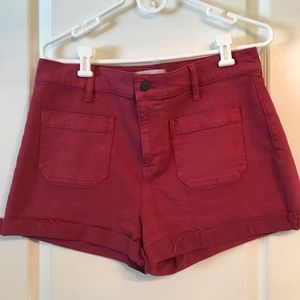 """Madewell Berry Colored Shorts 30"""" New without tags"""